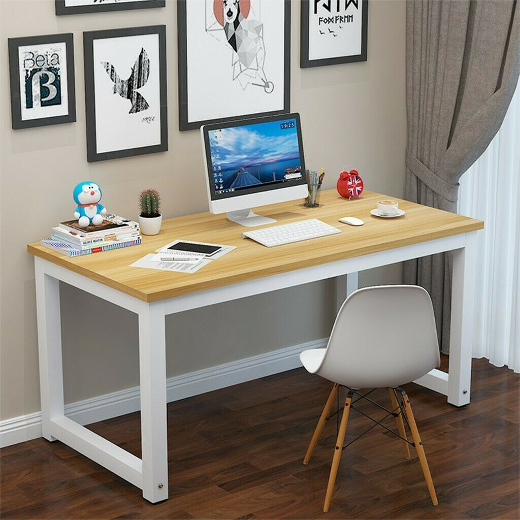 55 Wood Computer Desk Pc Laptop Table Study Workstation Home Office Furniture D Works Home Office Furniture Desk Simple Computer Desk Computer Desks For Home