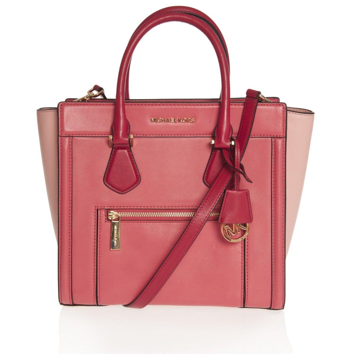 6026f186a4e7f Grüner Online Shop  Michael Kors Tasche COLETTE in Wassermelone Pink