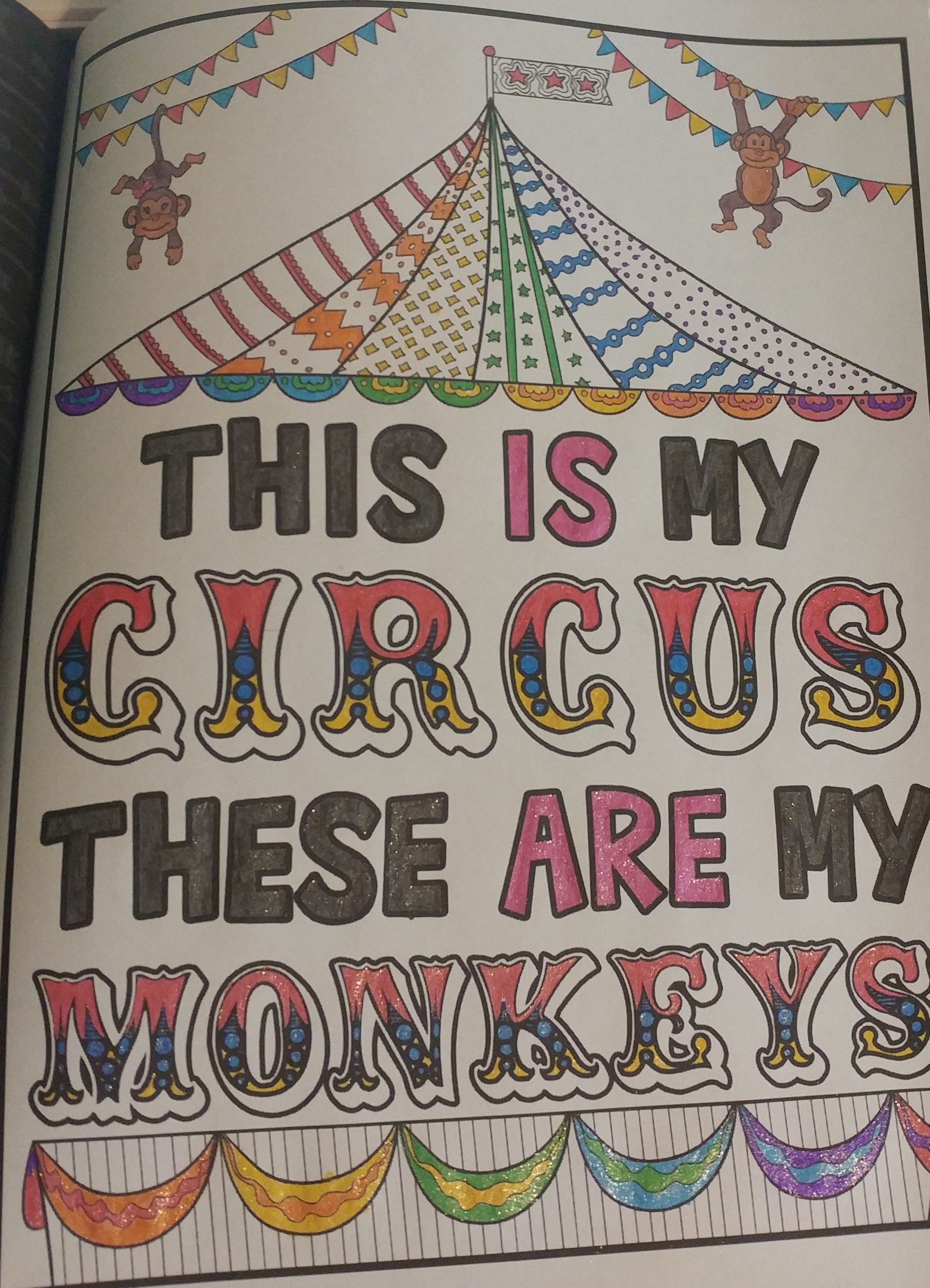 Adult coloring books for irreverent moms dads and other humans adult coloringcoloring booksfunny thingsmonkeysdads this is my circus these