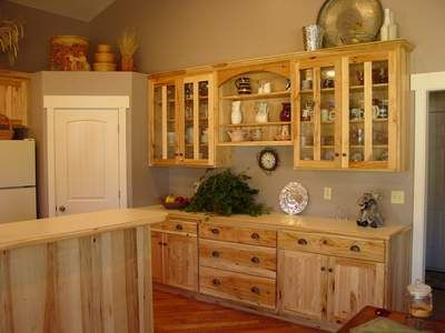 Wall Color With Our Hickory Cabinets Kitchen Design Home Kitchens Log Home Living