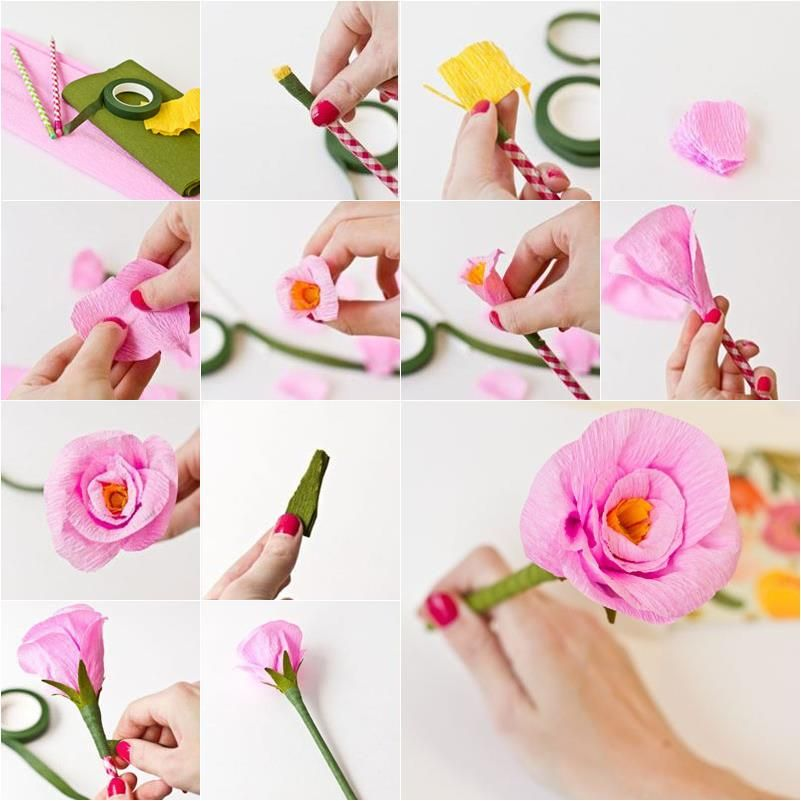 Diy make flower pens step by step cool creativity rose love 2 diy make flower pens step by step cool creativity mightylinksfo