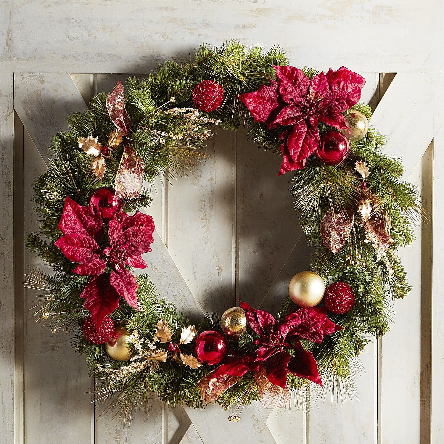 A Textbook Example Of The Ideal Christmas Wreath, This Handcrafted