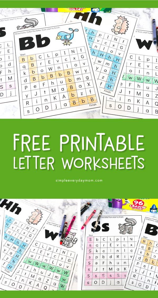 Free Animal Alphabet Worksheets For Preschool Kindergarten Mazes For Kids Printable Abc Activities Preschool Learning Printables