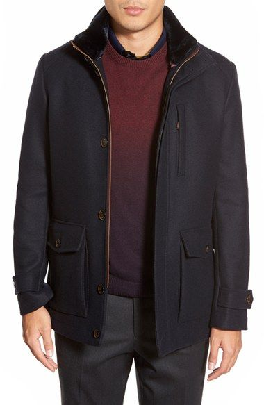 564dbc0fb80d4 Ted Baker London  Bartley  Faux Fur Collar Zip Front Jacket available at   Nordstrom