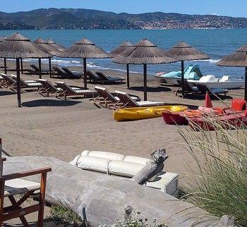 Tuscany Bay beach club at the Argentario, Maremma Tuscany