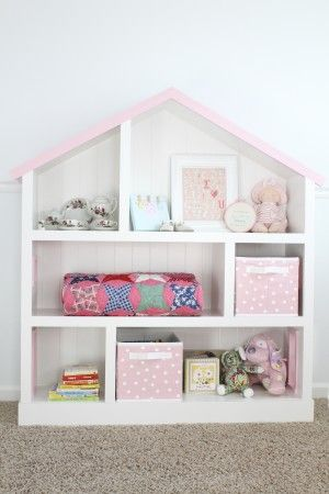 How To Make A Diy Dollhouse Bookcase For A Girl
