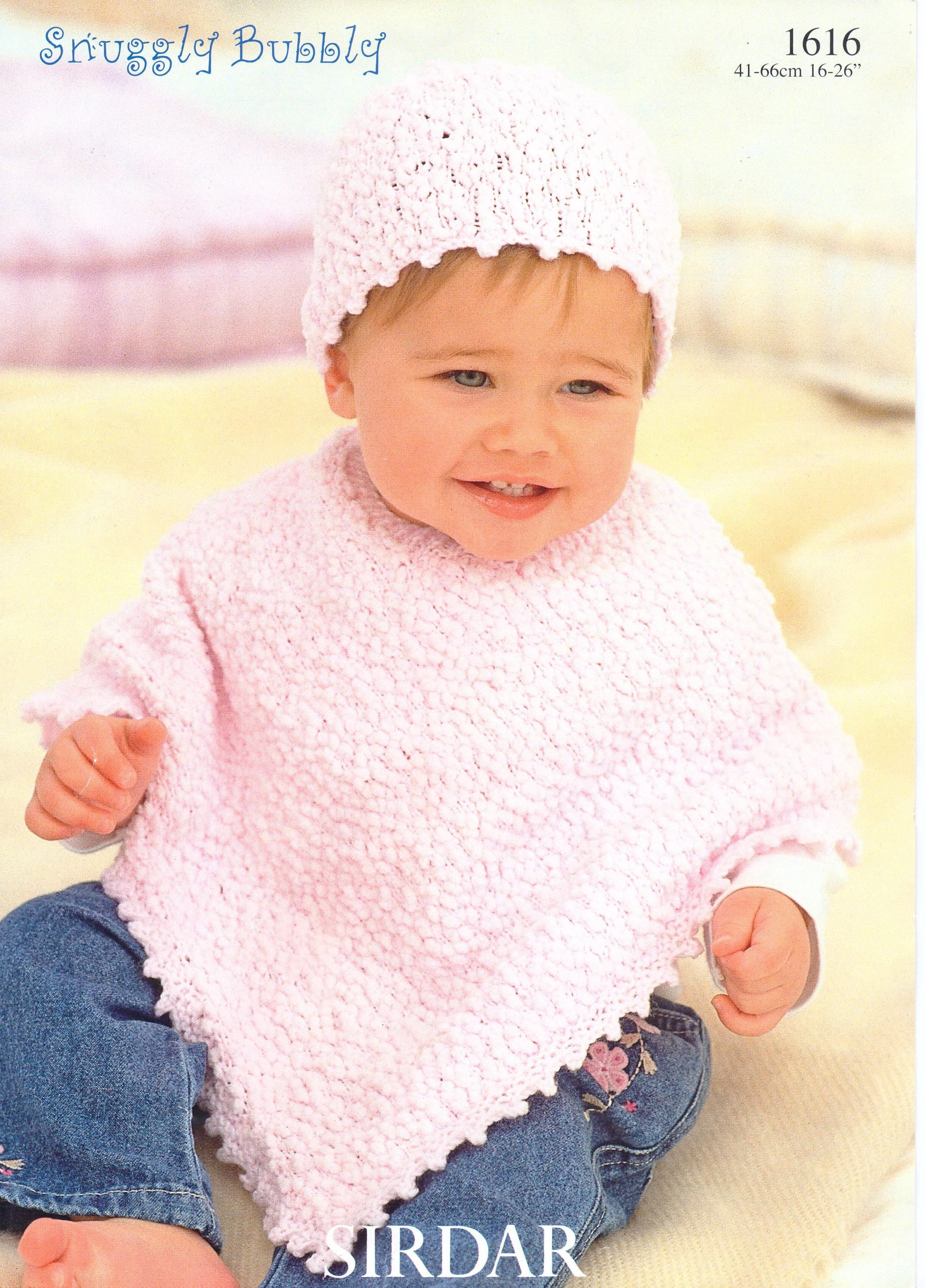 Baby Ponchos Knitting Pattern Childs Ponchos Hats Poncho Newborn