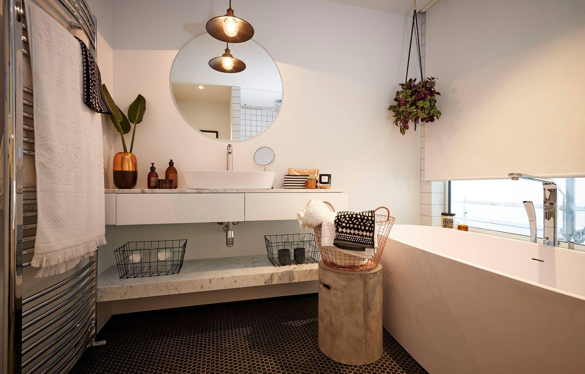 alex & corban's bathroom - the block nz - visit blog.curate.co.nz