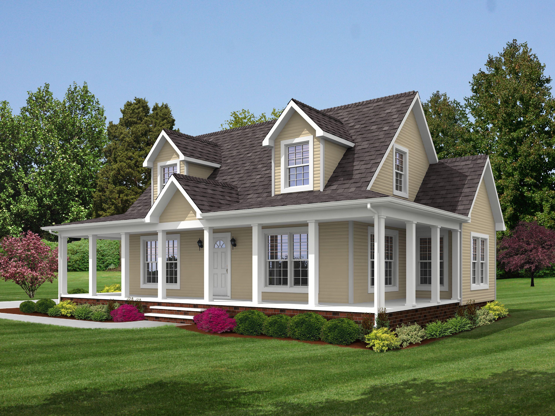 Brookside 2 Modular home floor plans, Cape cod house