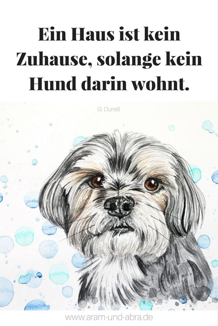 Zitat Hund Zeichnung Aquarell Continental Bulldog Aram Und Abra