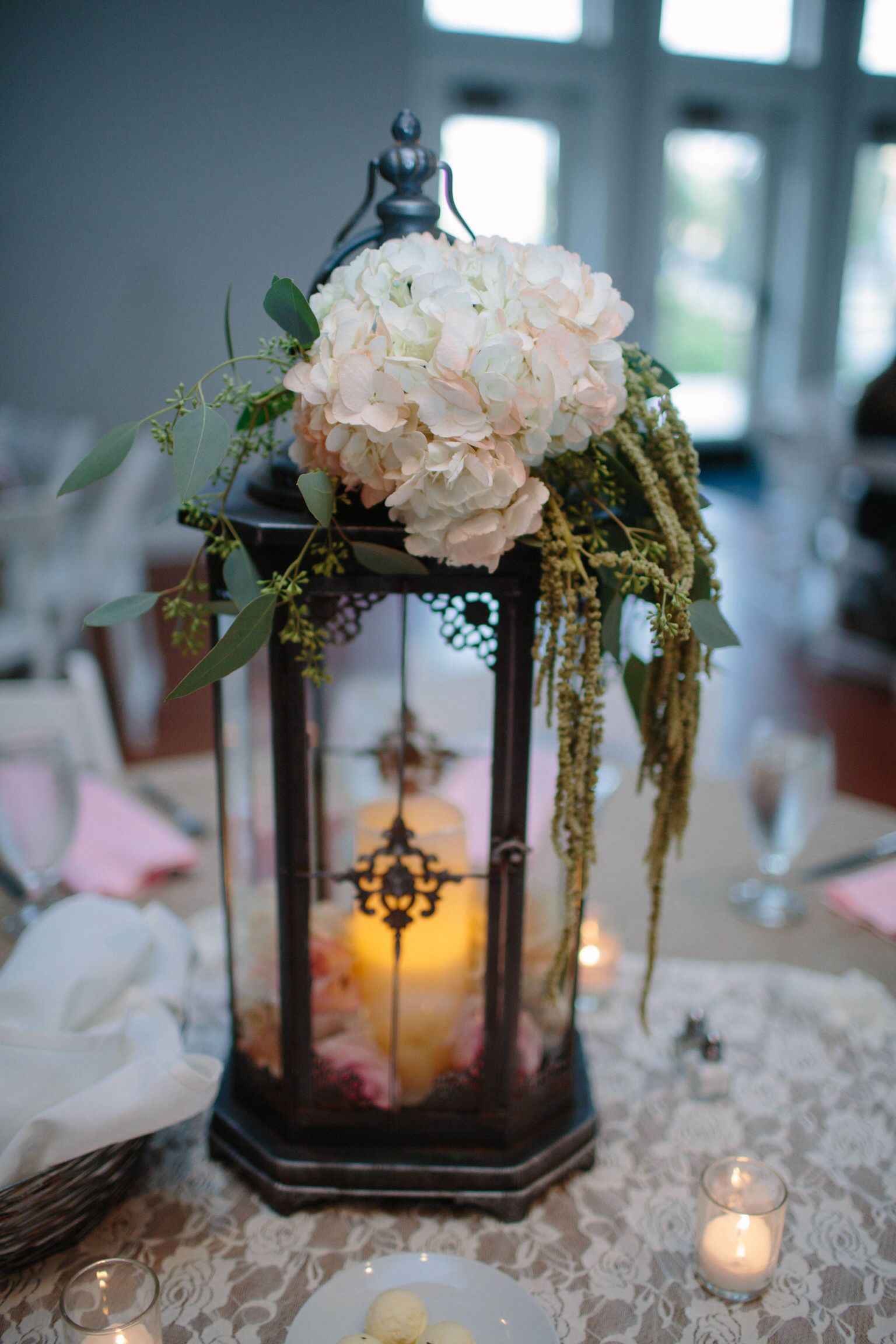 Tall lantern centerpiece hobby lobby Wedding Pinterest