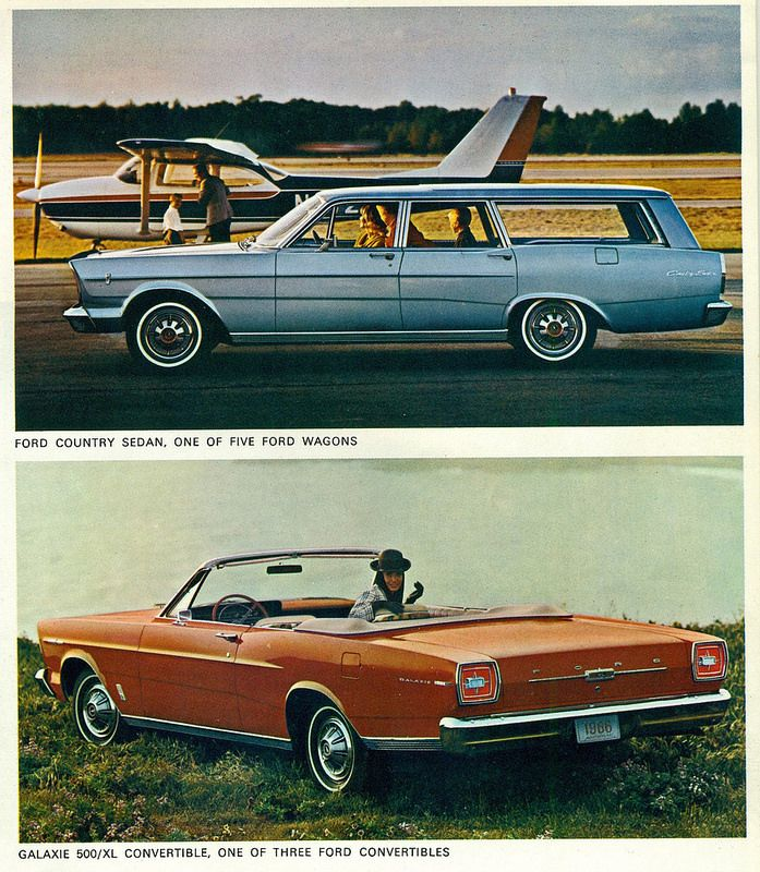 1966 Ford Country Sedan Station Wagon And Galaxie 500 Xl Convertible By Coconv