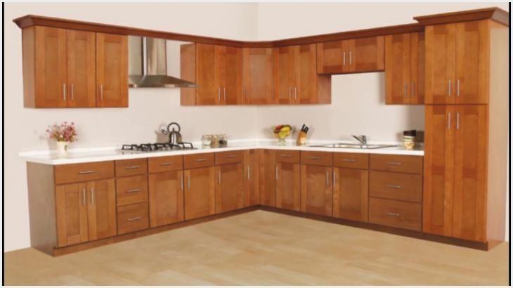 Kitchen Cabinets Restaining Ideas | Kabinet dapur, Desain ...