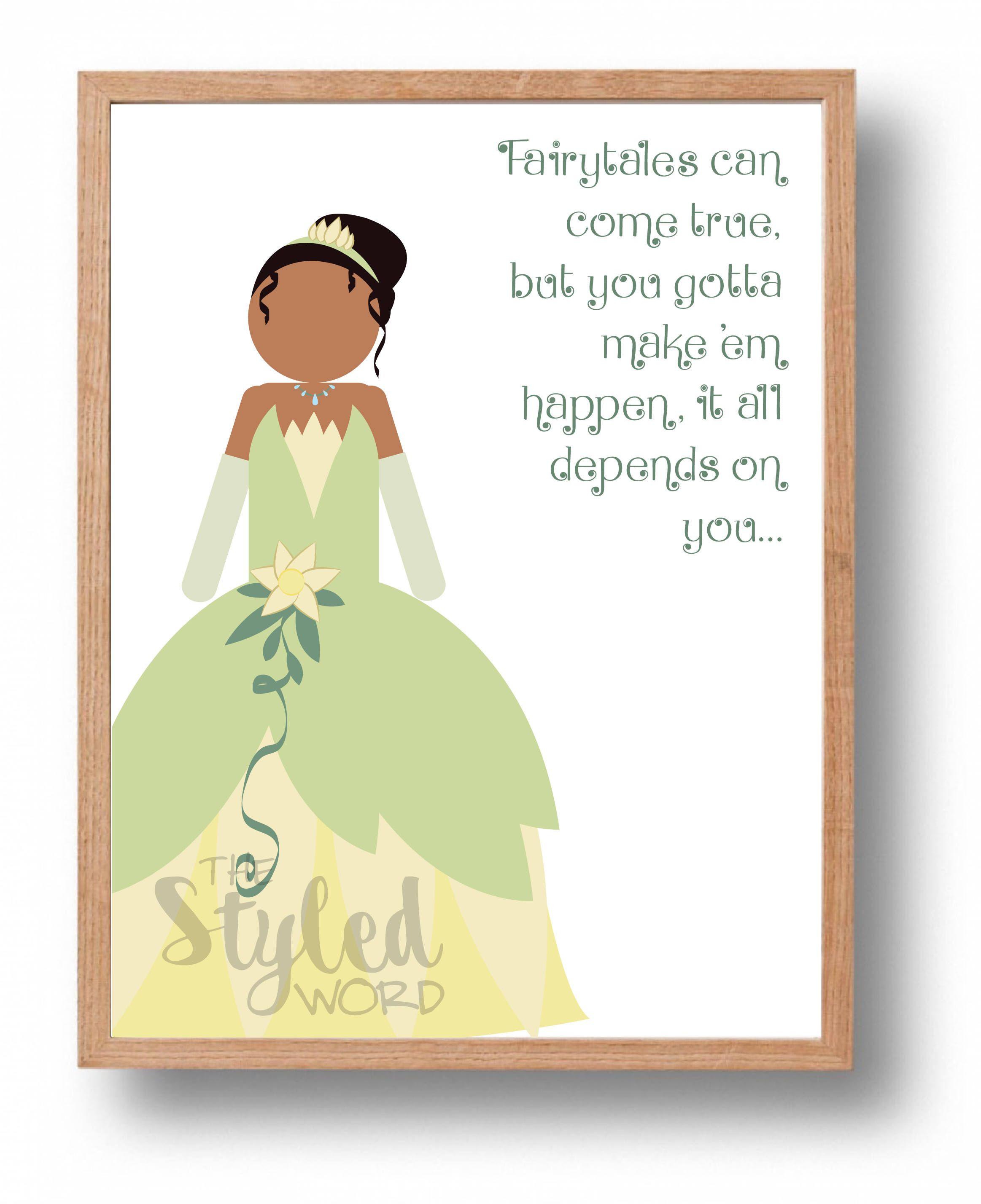 Tiana / The Princess & the Frog Quote Princess Art / Disney Princess ...