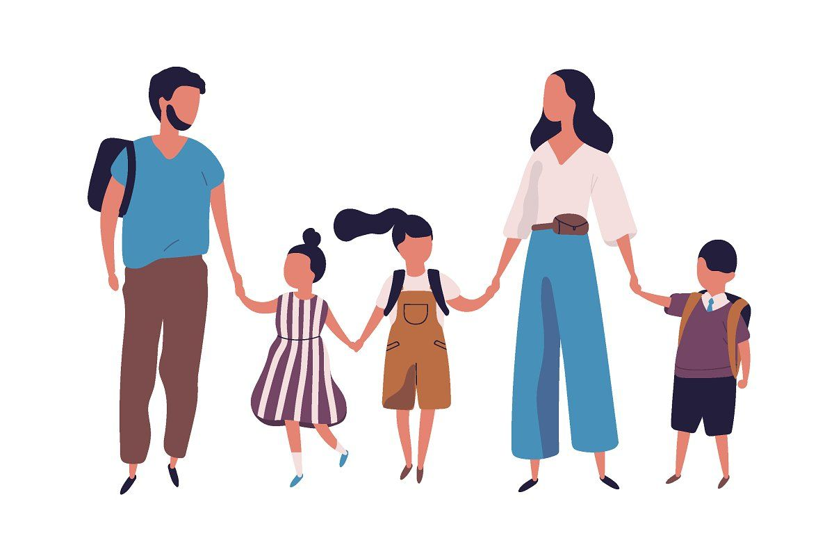 Family At Home Family Illustration Family Vector Parenting Illustration