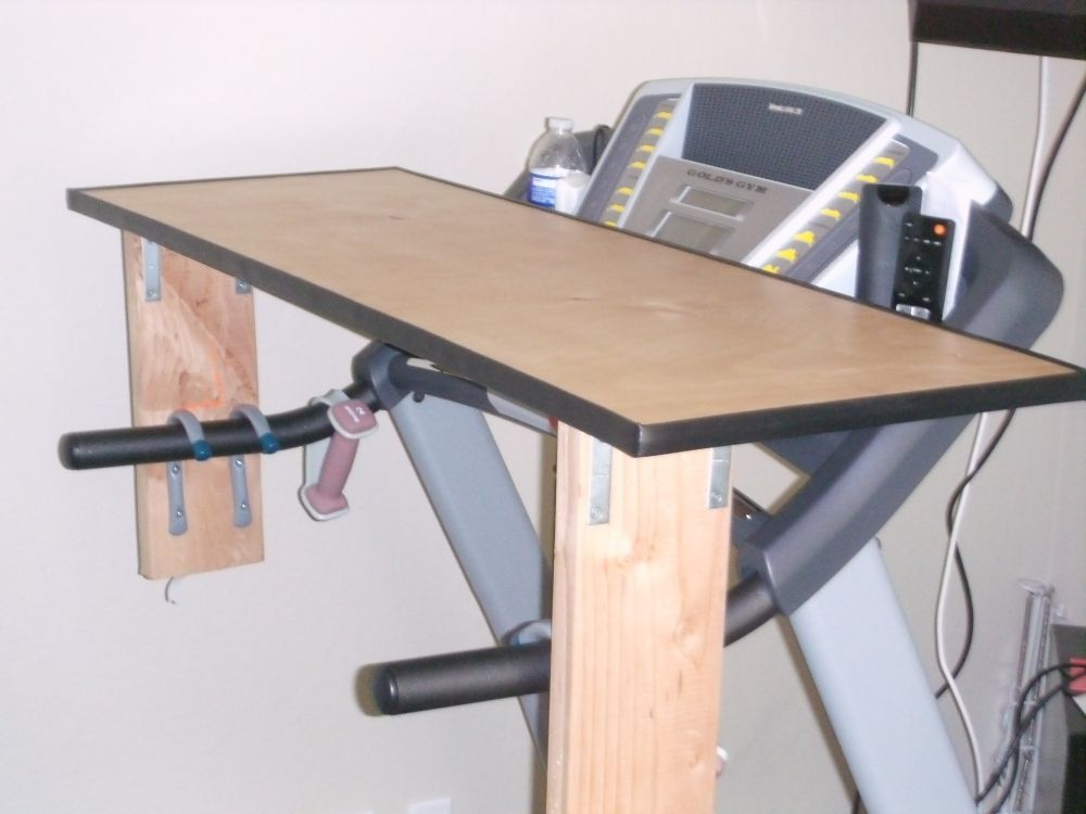 Diy treadmill desk example curated by