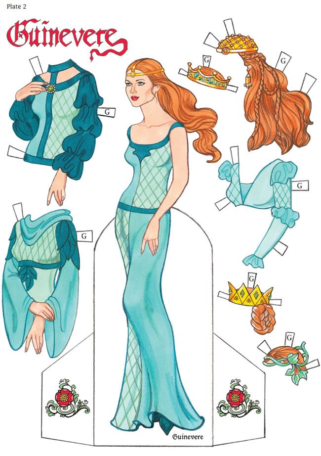 Sample Paper Doll King Arthur Paper Dolls By Eileen Rudisill Miller Of  Dover .