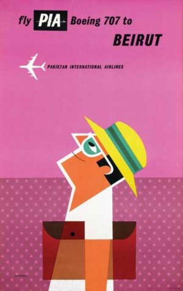 #Beirut * Fly PIA by Tom Eckersley #illustration #travel