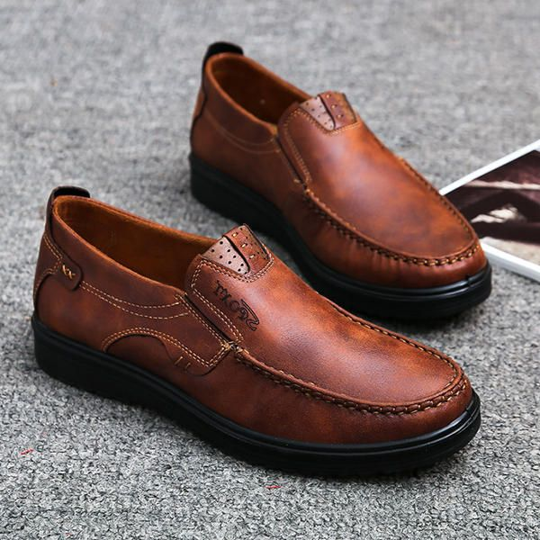 Leather oxford shoes, Mens casual shoes