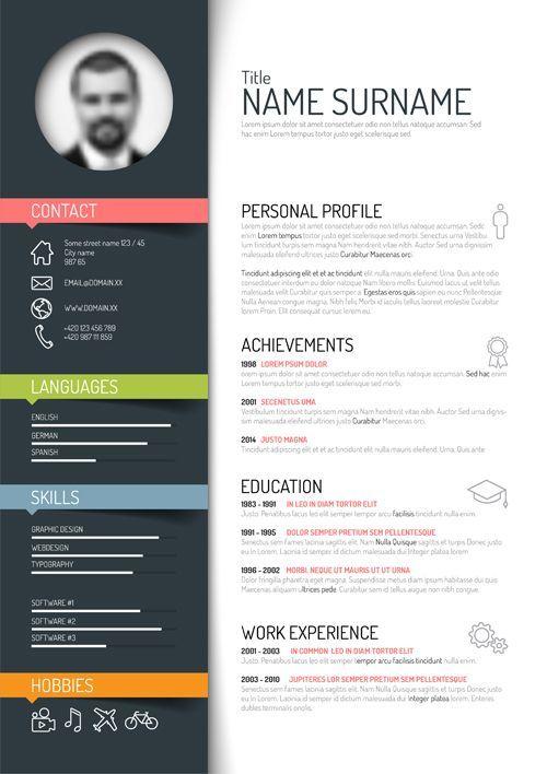 Unique Resume Templates Free Risultati Immagini Per Creative Cv  Cv Design  Pinterest  Free