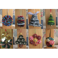 8 Yo-Yo Ornaments Use your favorite Christmas fabric collection to make a wonderful collection of yo-yo ornaments. Quick and easy!