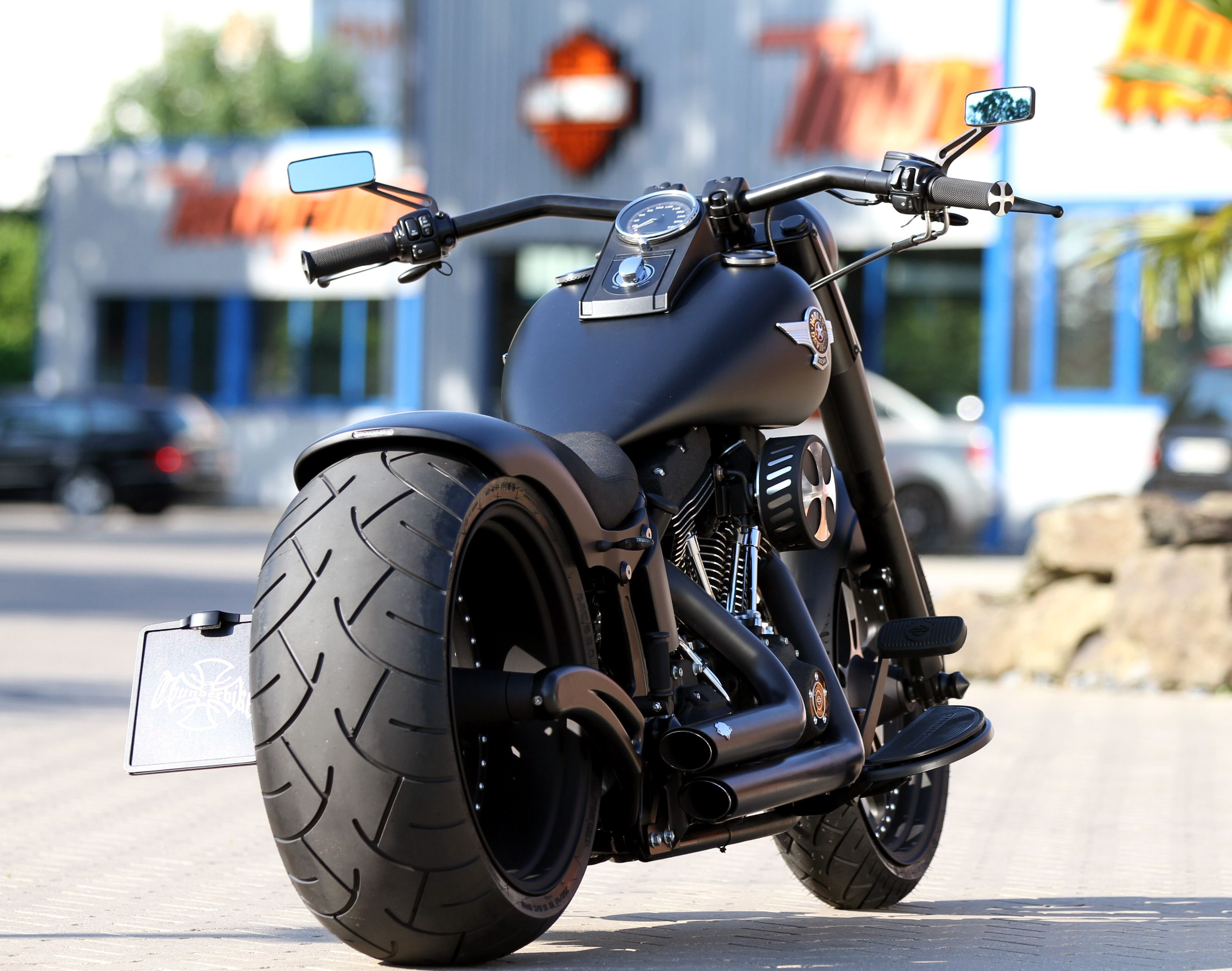 thunderbike customized harley davidson fat boy hot. Black Bedroom Furniture Sets. Home Design Ideas