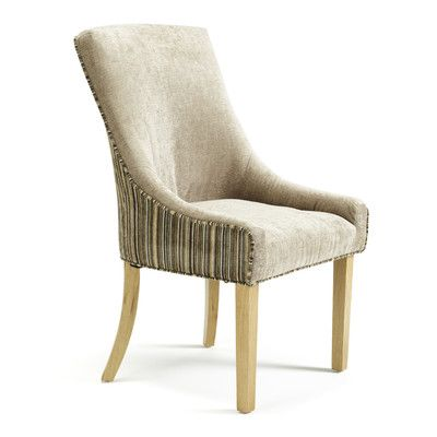 oak upholstered set of 2 dining chair two tone fabric wayfaircouk via