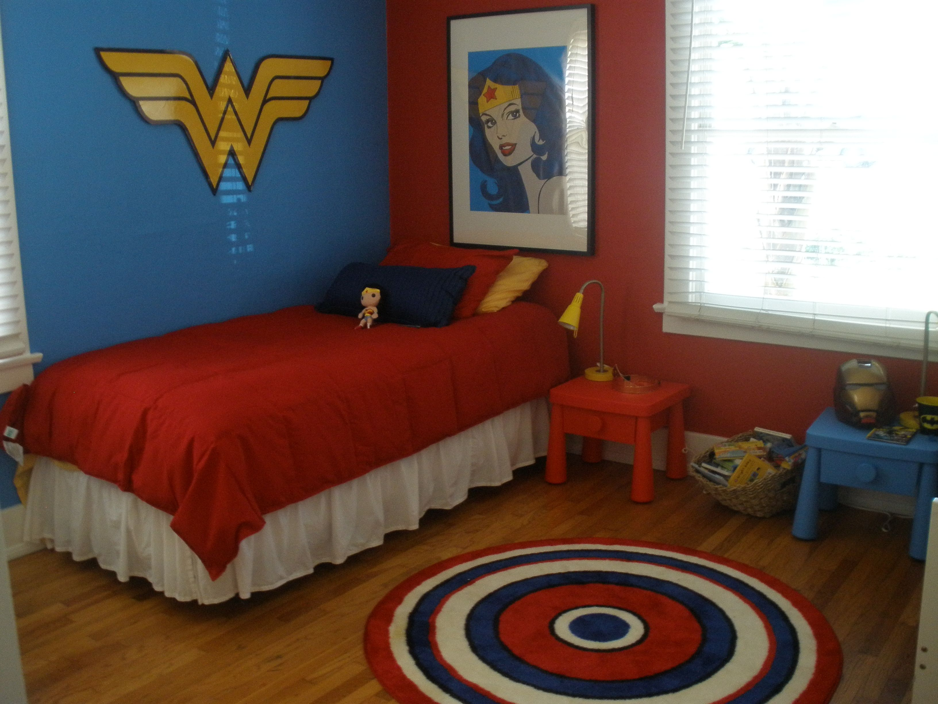 Superman Room Ideas Superhero Shared Room Helena 39s Side Super Hero Shared