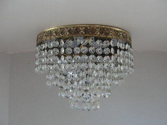 Vintage Crystal Chandelier Lighting Flush Mount Light By Lightlady