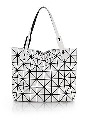 b5e41356da Bao Bao Issey Miyake Rock East-West Matte Faux Leather Zip Tote