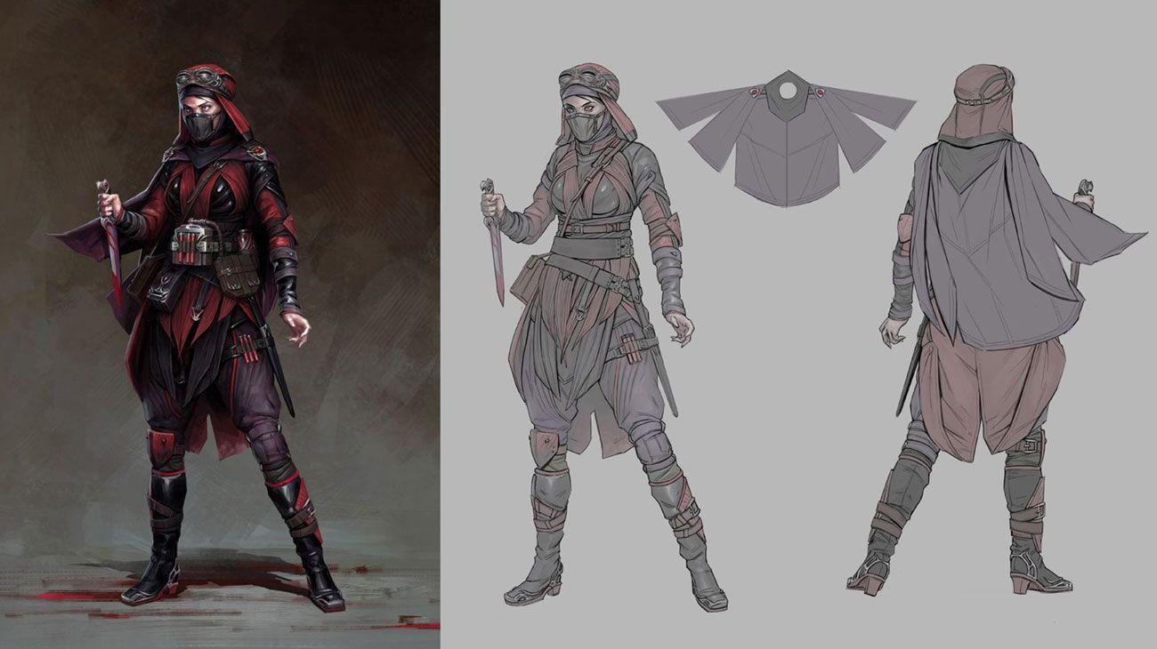 Skarlet Concept Art From Mortal Kombat 11 Art Artwork Gaming