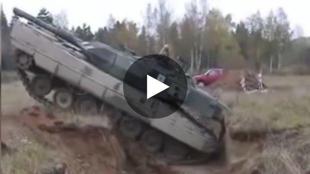 Le tank de combat allemand, le 'Léopard Allemand 2', est un engin impressionnant