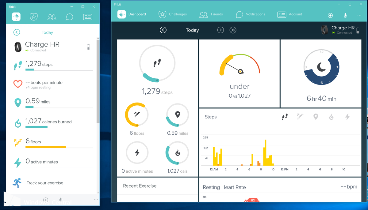 Fitbit releases their universal Windows 10 app
