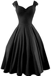 50s Vintage Style Rockabilly Swing Picnic Evening Party Cocktail Dress for Women