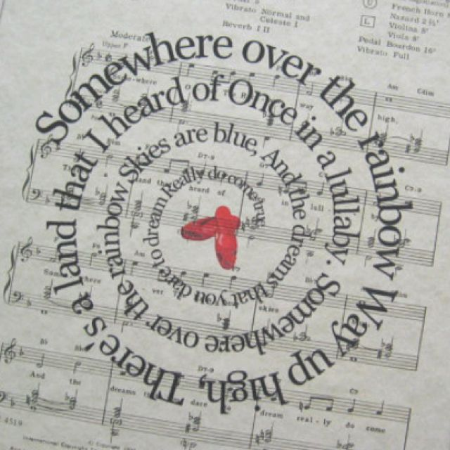 Over The Rainbow Lyrics Sheet Music: Wizard Of Oz. As Judy Garland Was Singing This Famous Song