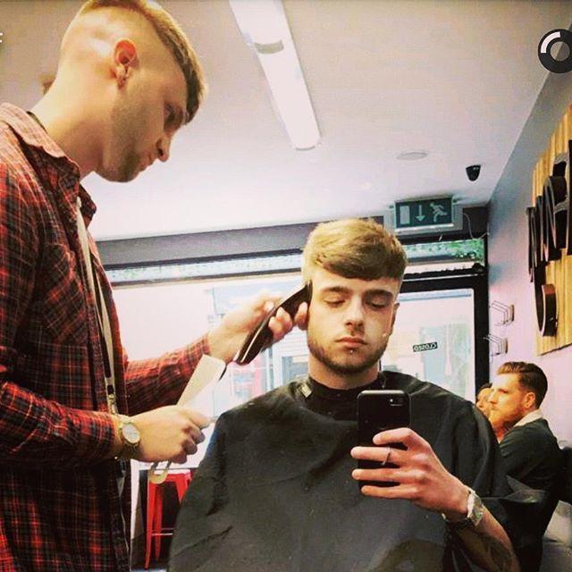 WEBSTA @ barbercooke95 - Action Shot / @harley_duffield #Barber #BarberLife #FargsBarbers #MensGrooming #MensBarber #UkBarber #Wahl #Andis #SaltMist #Pompadour #Barbering #New #barbershop #Fashion #barbershopconnect #barberworld #barberlove  #Taper #Taperfade #BaldFade #barberconnect #Crop #nofilter #vintagehair #fashion #mensfashion #selfie #instalike #picoftheday #love @barbershopconnect @britishmasterbarbers @showcasebarbers @barbersinctv @thebarberpost @ukmasterbarbers@ourbarberuk…