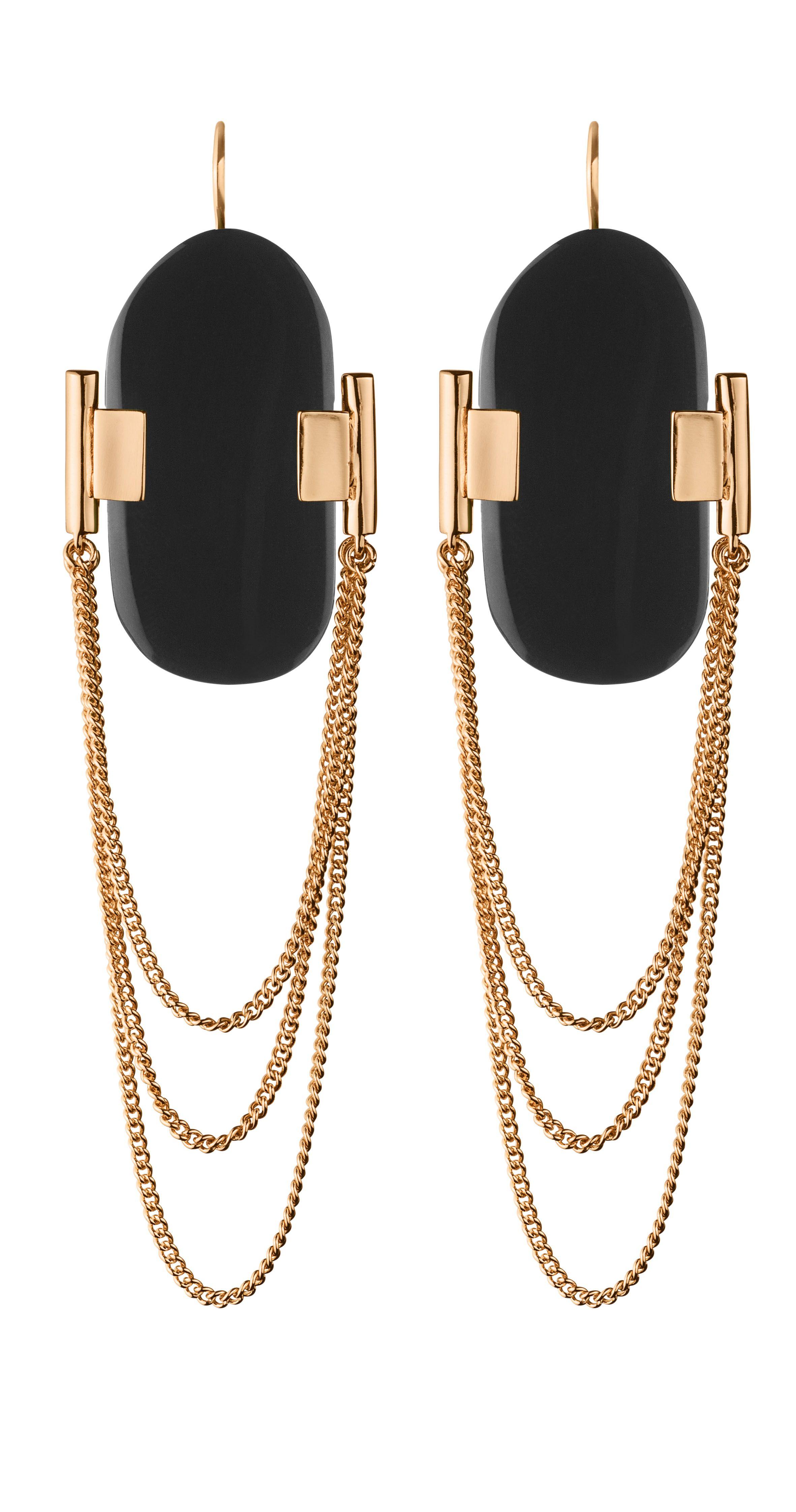 GENARO RG BLACK danish jewelry style fashion rosegold black