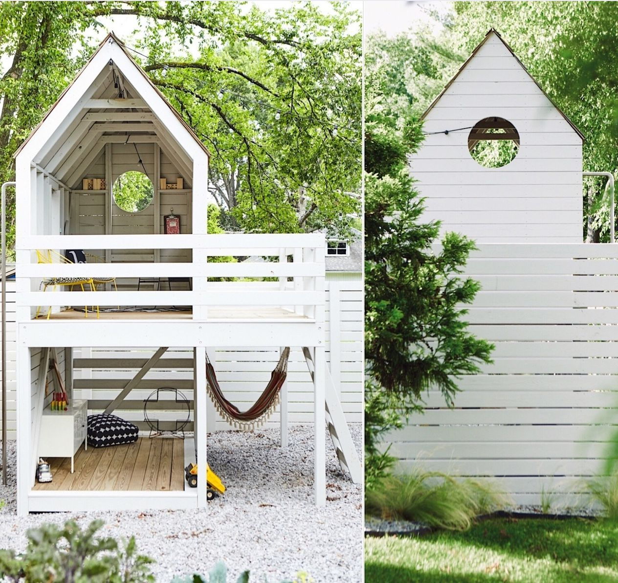 Photo of Two story modern playhouse