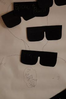 Secret Agent Birthday Party - PIn the glasses on the spy?