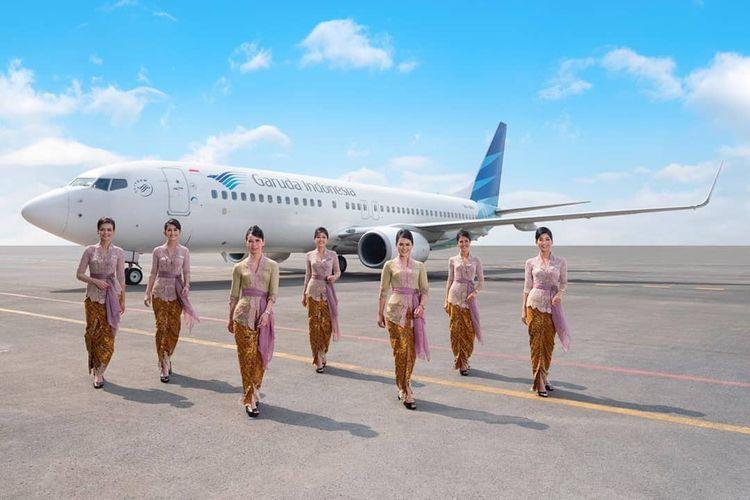 Garuda Indonesia Stewardess Uniform By Famous Indonesian Designer Anne Avantie Kompas Com Pramugari Indonesia Kebaya