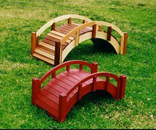 Small Garden Bridges To Sweeten Your Garden Rustic Wooden Bridge