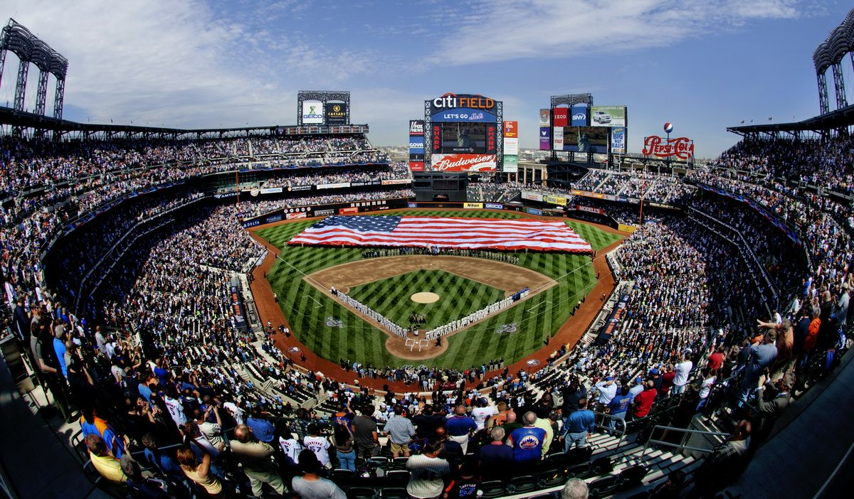 Mets citifield with flag new york mets pinterest wallpaper mets citifield with flag altavistaventures Images