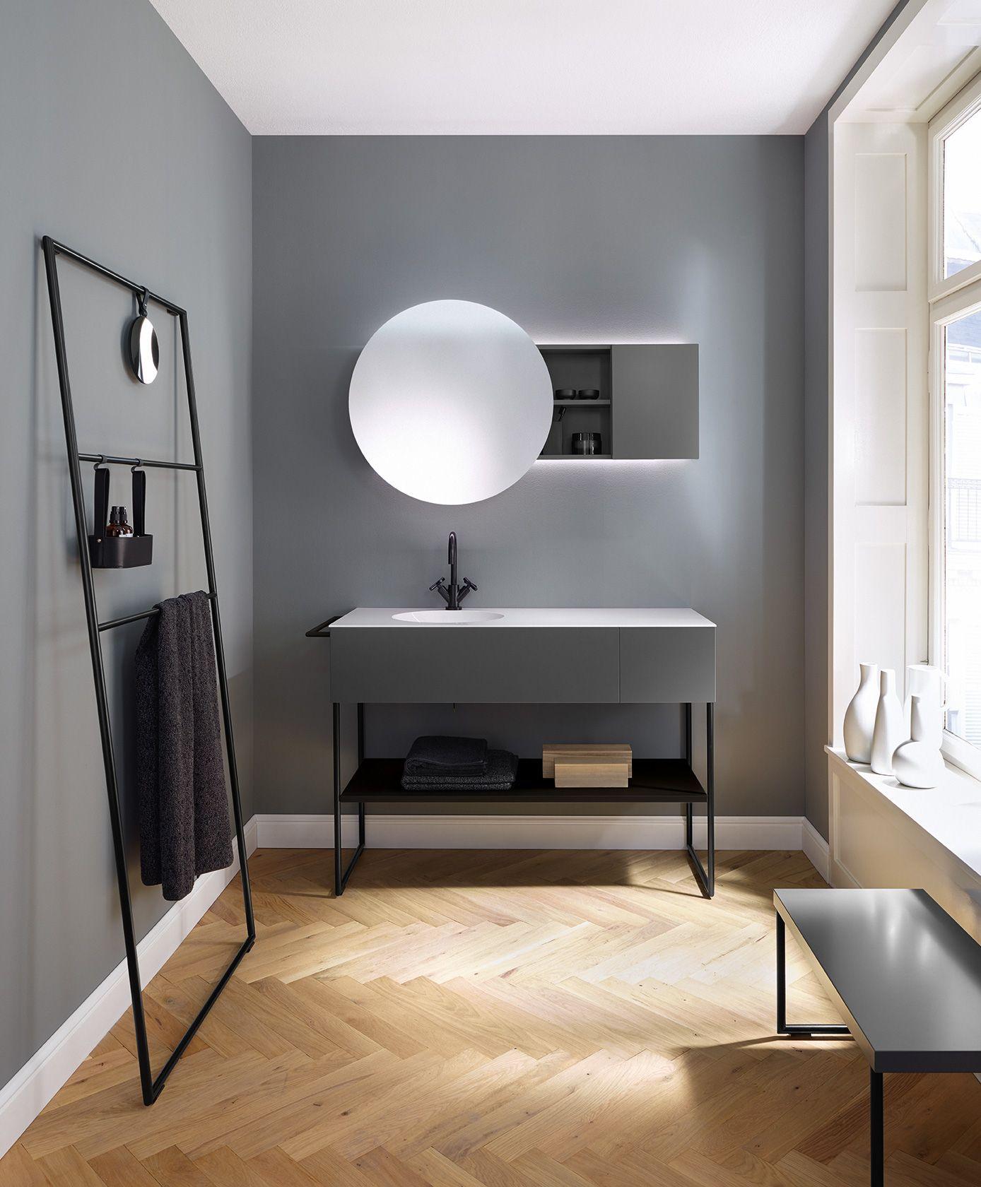 Un cuarto de ba o minimalista y elegante tonos de gris y for Banos en tonos grises