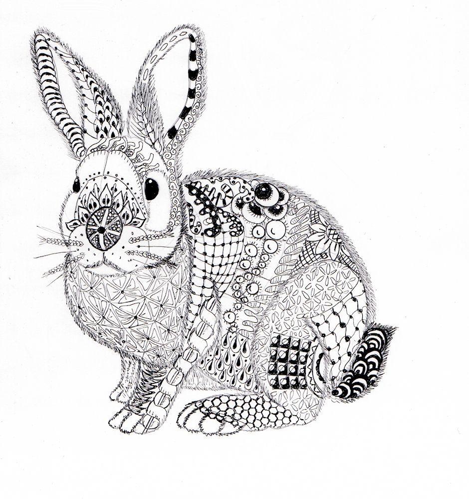 Ben Kwok — Fluffy Rabbit (940×1000) | Graphics — 21th Century ...