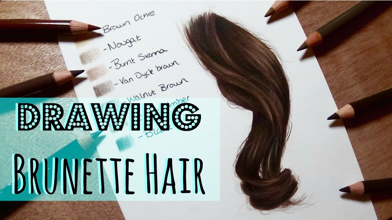 Drawing Tutorial: Realistic Brunette/ Brown Hair In Coloured Pencil
