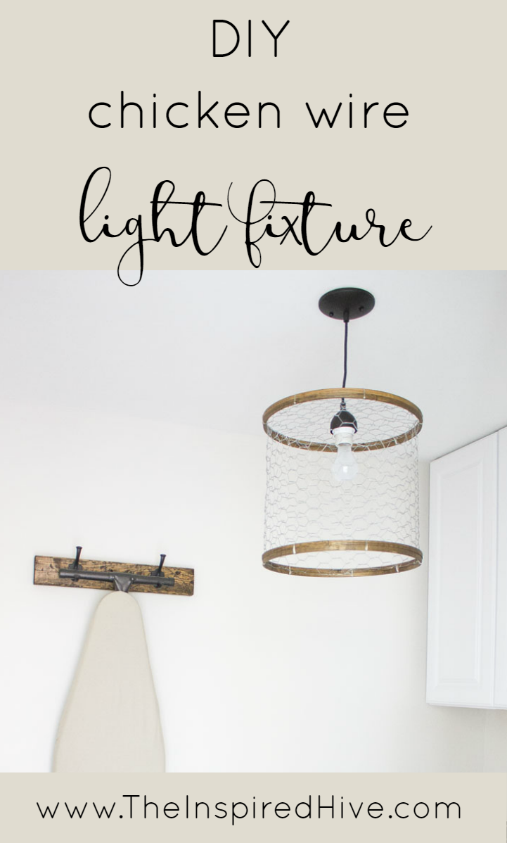 Diy Chicken Wire Light Fixture The Inspired Hive Pinterest Wiring Lights In A House How To Make Rustic Laundry Room Out Of