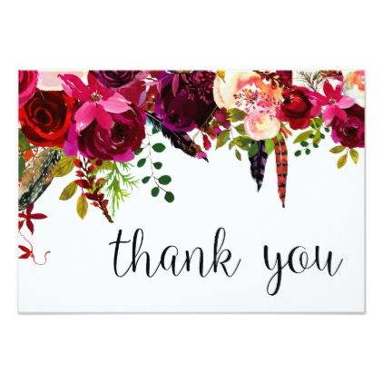 #floral - #Floral Water Color Thank You Card