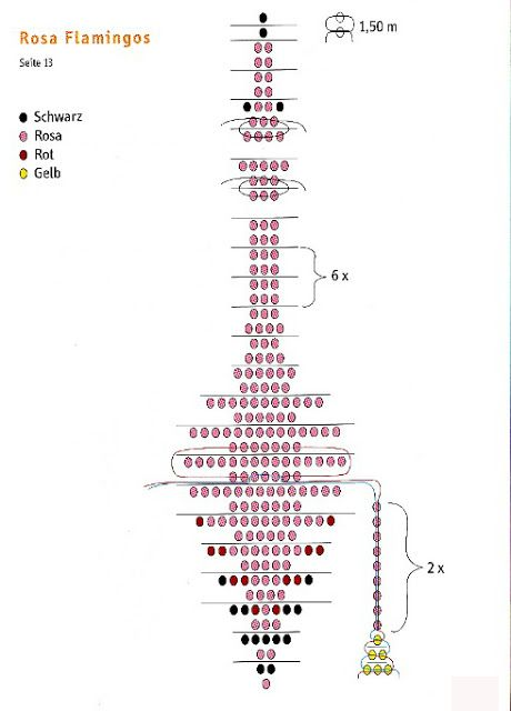 Схема фламинго из бисера 298