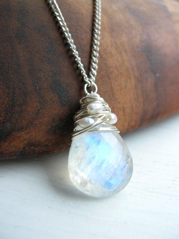 40b1c5e992a340 Moonstone Pendant Wedding Bridal Necklace, Chunky Gemstone Jewelry for  Bridemaid Moonstone Pendant, Moonstone Earrings
