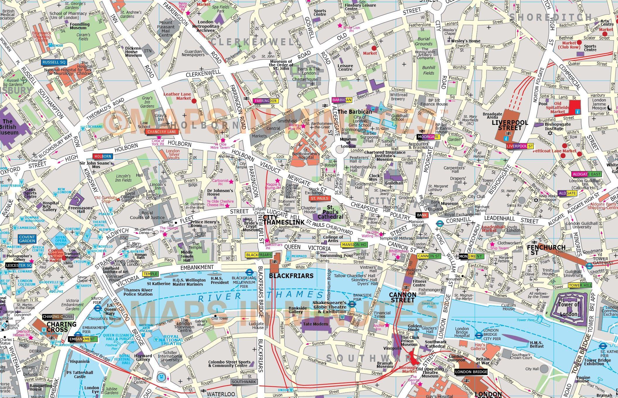 map london city deluxe london city map in illustrator editable vector format